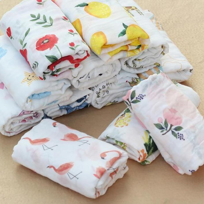 100%Cotton Muslin Baby Blanket - Beaus and Ribbons