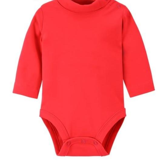 100% Cotton Bodysuit Turtleneck 0-36M - Beaus and Ribbons