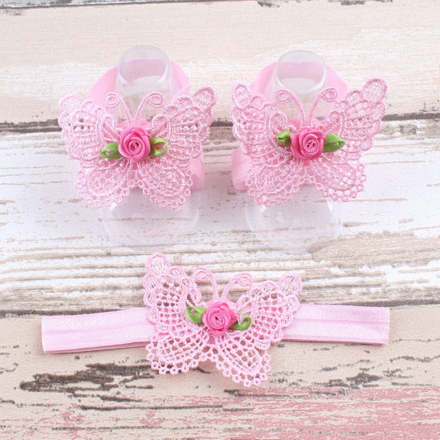 Headbands w/ Matching Sandals - Beaus and Ribbons