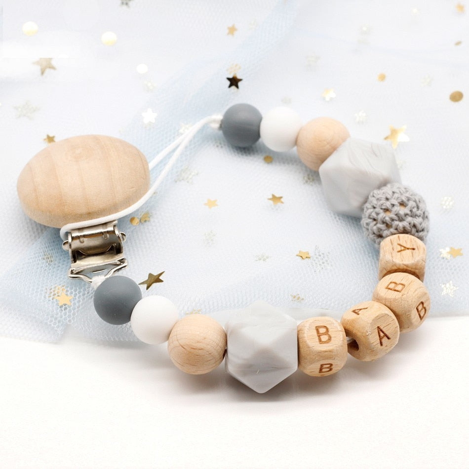 Eco Friendly Silicone Pacifier Chains - Beaus and Ribbons