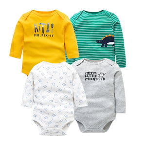 4 PCS Newborn Long Sleeve Infant Jumpsuit - Beaus and Ribbons