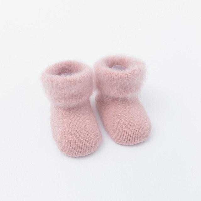 Winter Thick Baby Terry Socks 0-36M - Beaus and Ribbons