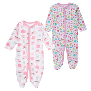 Newborn Baby Sleeper Pajamas 0-12 Months - Beaus and Ribbons