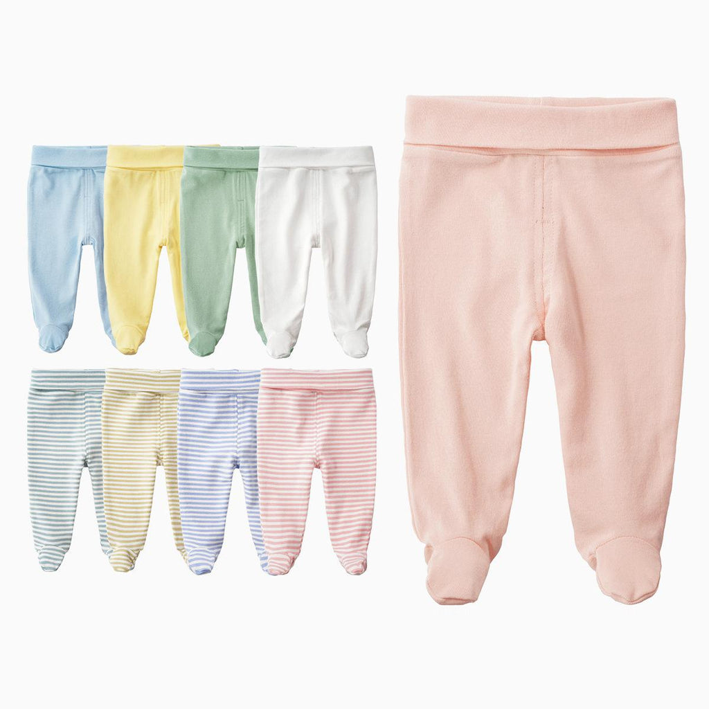 Unisex Cotton High Waist Trousers 3-12M - Beaus and Ribbons