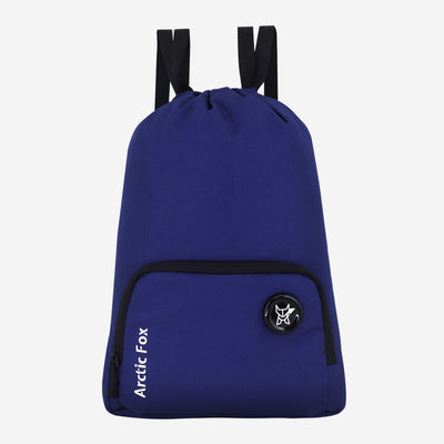 Arctic Fox Draw String Navy Blue Backpack