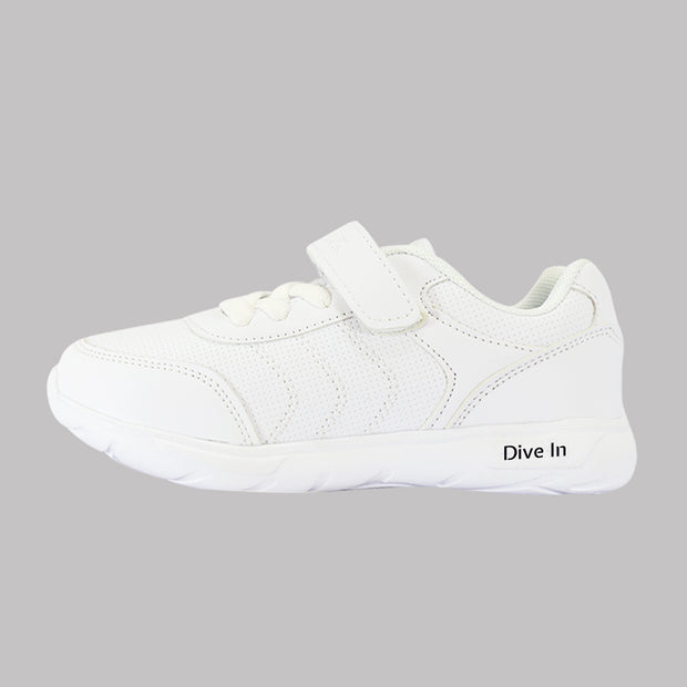 Arctic Fox White School Shoes