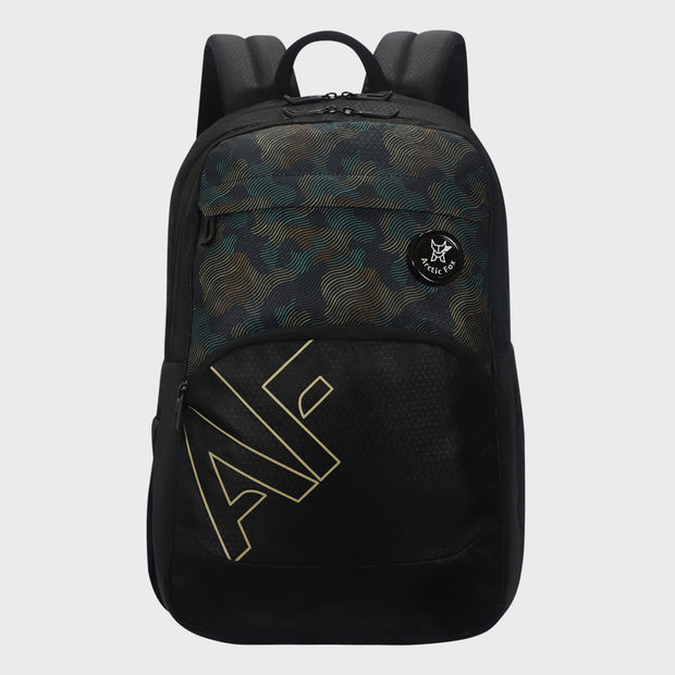 Arctic Fox Camo Wave Black Backpack