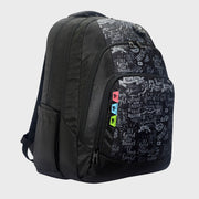 Arctic Fox Doodle Black Backpack
