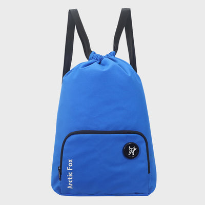 Arctic Fox Draw String Blue Backpack