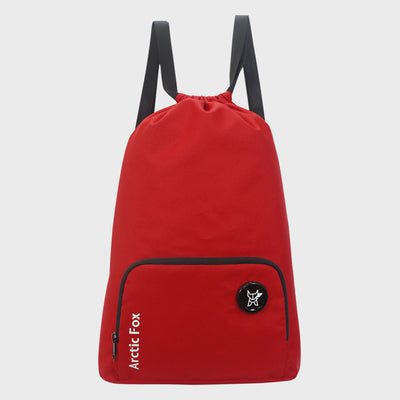 Arctic Fox Draw String Crimson Backpack