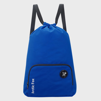 Arctic Fox Draw String Dark Blue Backpack