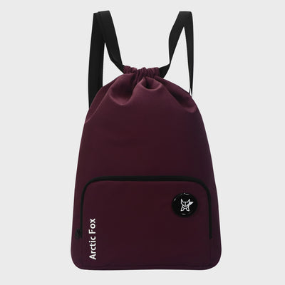 Arctic Fox Draw String Dark Red Backpack