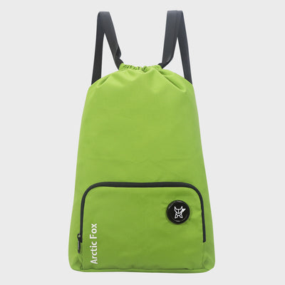 Arctic Fox Draw String Emerald Green Backpack