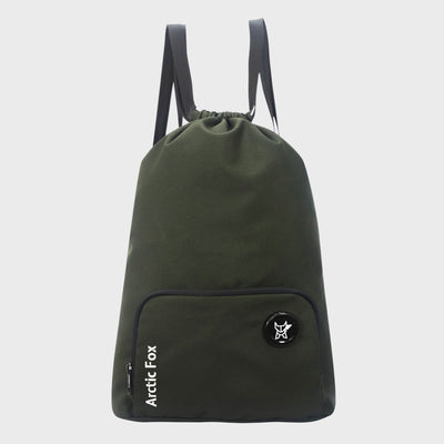 Arctic Fox Draw String Green Backpack