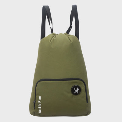 Arctic Fox Draw String Olum Green Backpack