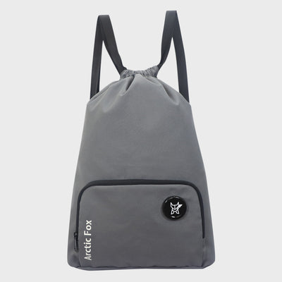 Arctic Fox Draw String Static Grey Backpack