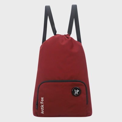 Arctic Fox Draw String Wine Backpack
