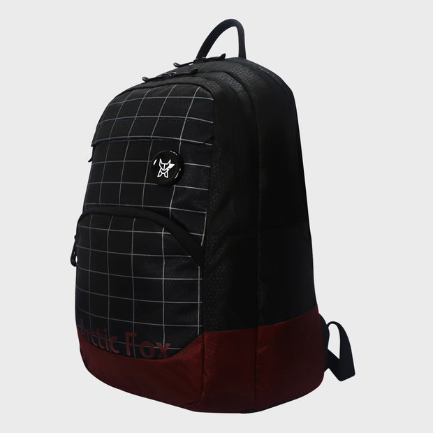 Arctic Fox Grid Black Backpack