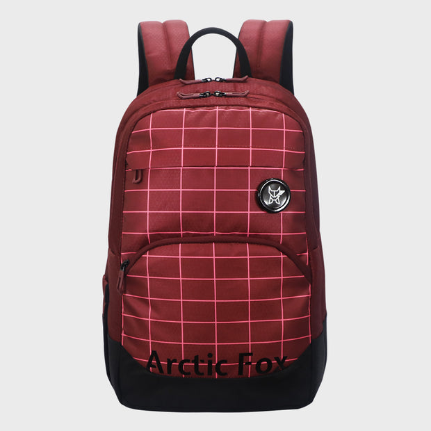 Arctic Fox Grid Tawny Port Backpack