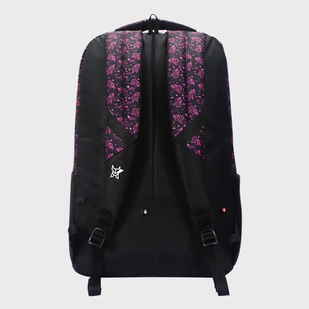 Arctic Fox Unicorn Pink Bloom Backpack