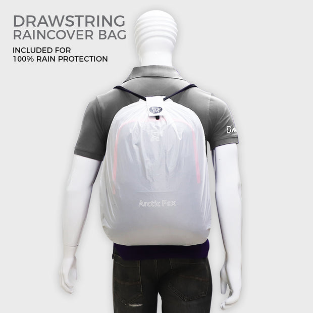 Arctic Fox Alarm Anti-Theft Glitch Black Backpack