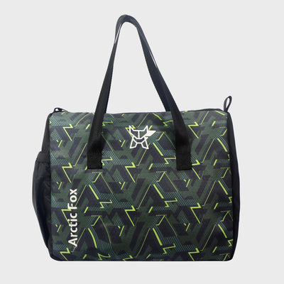 Arctic Fox Little Dude Lines Black Lunch Bag