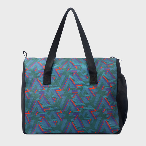 Arctic Fox Little Dude Lines Blue Lunch Bag
