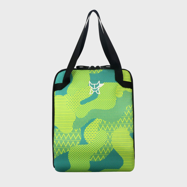 Arctic Fox Valentine Yellow Lunch Bag