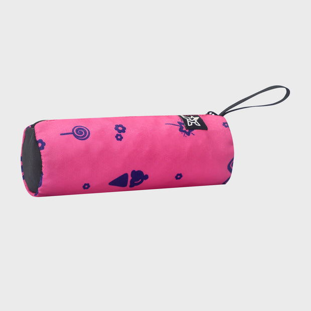 Arctic Fox Tube Carmine Rose Stationery Pouch