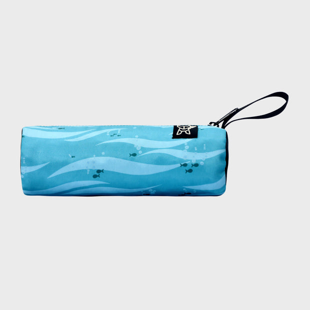 Arctic Fox Tube Light Blue Stationery Pouch