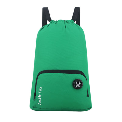 Arctic Fox Draw String Apple Green Backpack