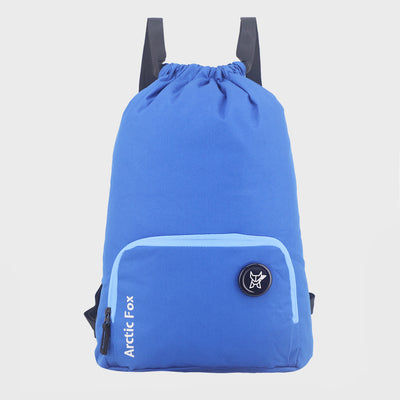 Arctic Fox Draw String Glamour Blue Backpack