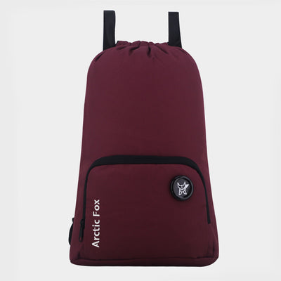 Arctic Fox Draw String Hepping Purple Backpack