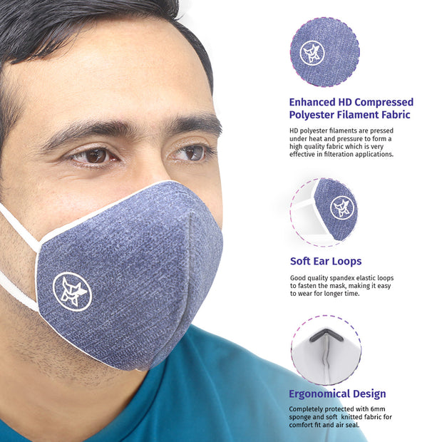 Arctic Fox AIW V2 Washable Blue Mask