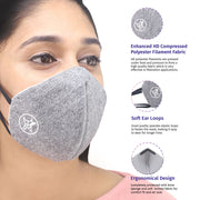 Arctic Fox AIW V2 Washable Grey Mask