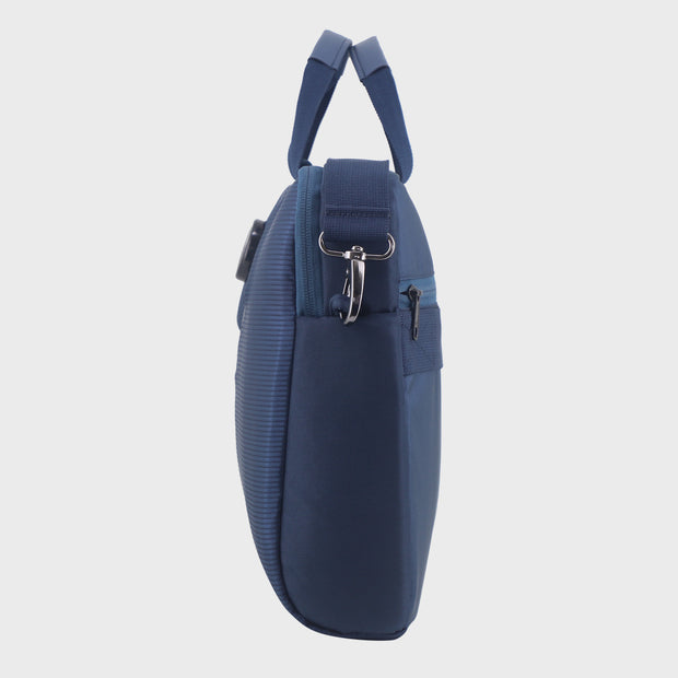 Arctic Fox Top Load Denim Blue Laptop Carry Case