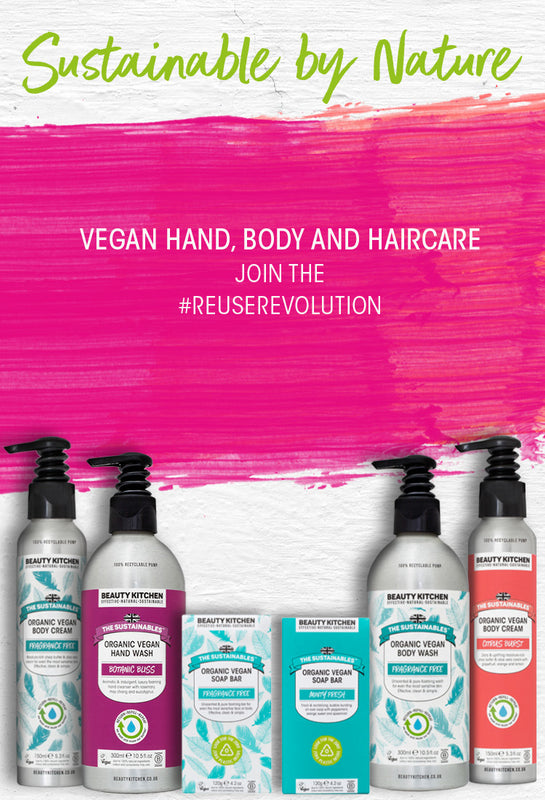 The Sustainables hand, body and haircare category banner mobile version