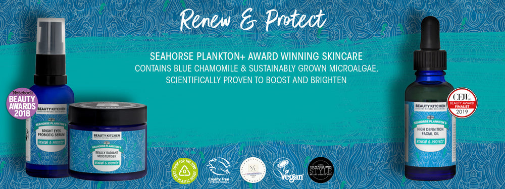 Seahorse Plankton+ Skincare range collection page banner