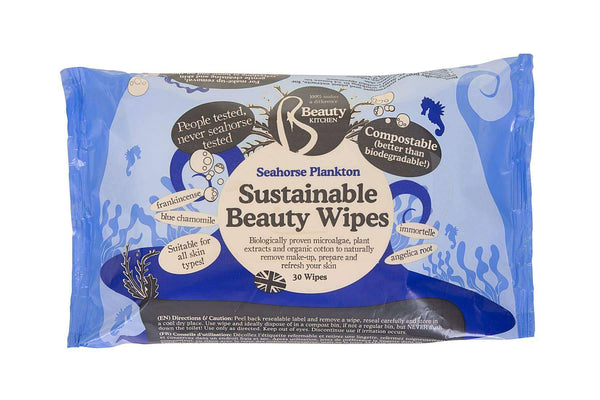 Seahorse Plankton Sustain Beauty Wipes 30 Pack