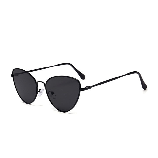 Sexy Small Vintage Cat Eye Sunglasses Women Vintage Red Black Sun Glasses Female Ladies Cateyes Sunglass 2018 Retro Glasses