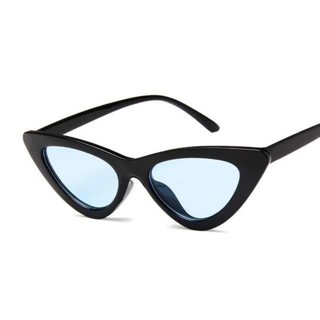 New Retro Fashion Sunglasses Women Brand Designer Vintage Cat Eye Black White Sun Glasses Female Lady UV400 Oculos