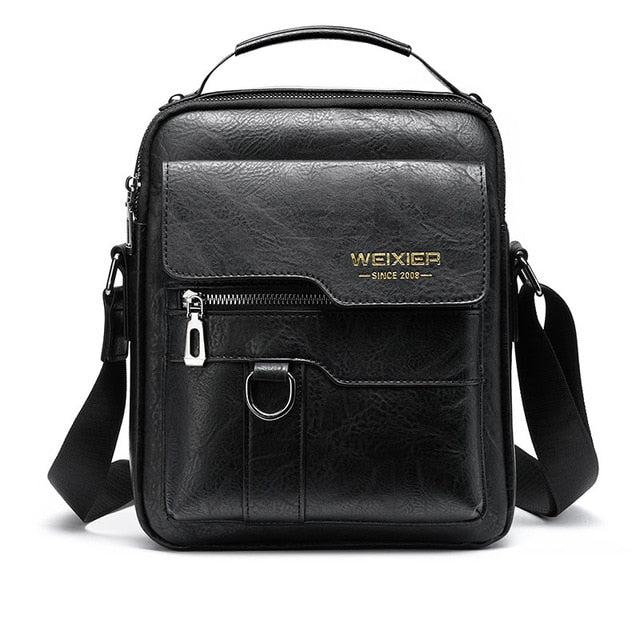 New Men Crossbody Bag Shoulder Bags Multi-function Men Handbags Large Capacity Split Leather Bag For Man Messenger Bags Tote Bag