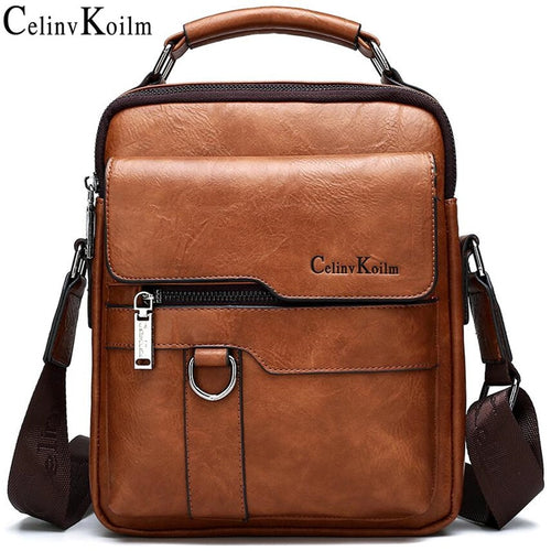 Celinv Koilm Luxury Brand Men Messenger Bags Crossbody Business Casual Handbag Male Spliter Leather Shoulder Bag Large Capacity