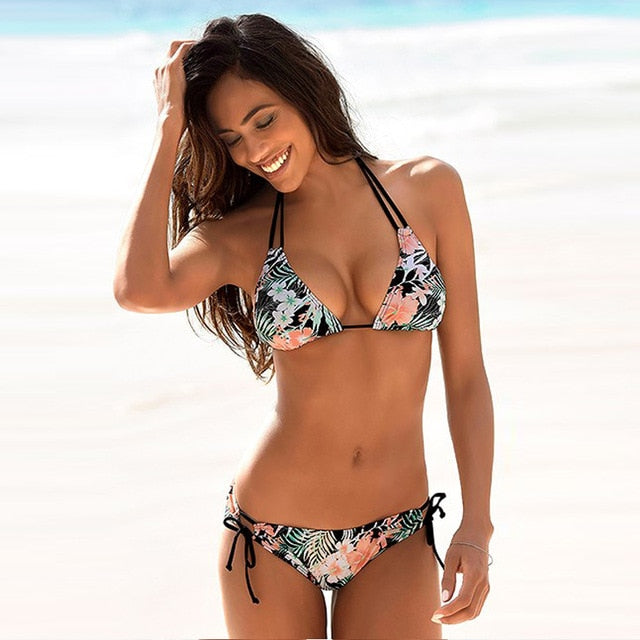 Swimwear Woman Swimsuit Sexy Bikini 2020 New Push Up Bikini Set Bathing Suit Women Print Floral Beachwear Biquini Two Piece Suit