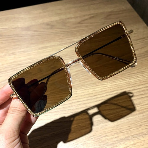 Fashion Transparent square sunglasses metal frame Women overize glasses Men Eyeglasses Frame nerd plain glasses clear shades