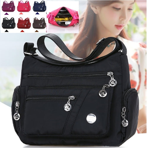 Fashion Women Shoulder Messenger Bag Waterproof Nylon Oxford Crossbody Bag Handbags Large Capacity Travel Bags Purse Wallet