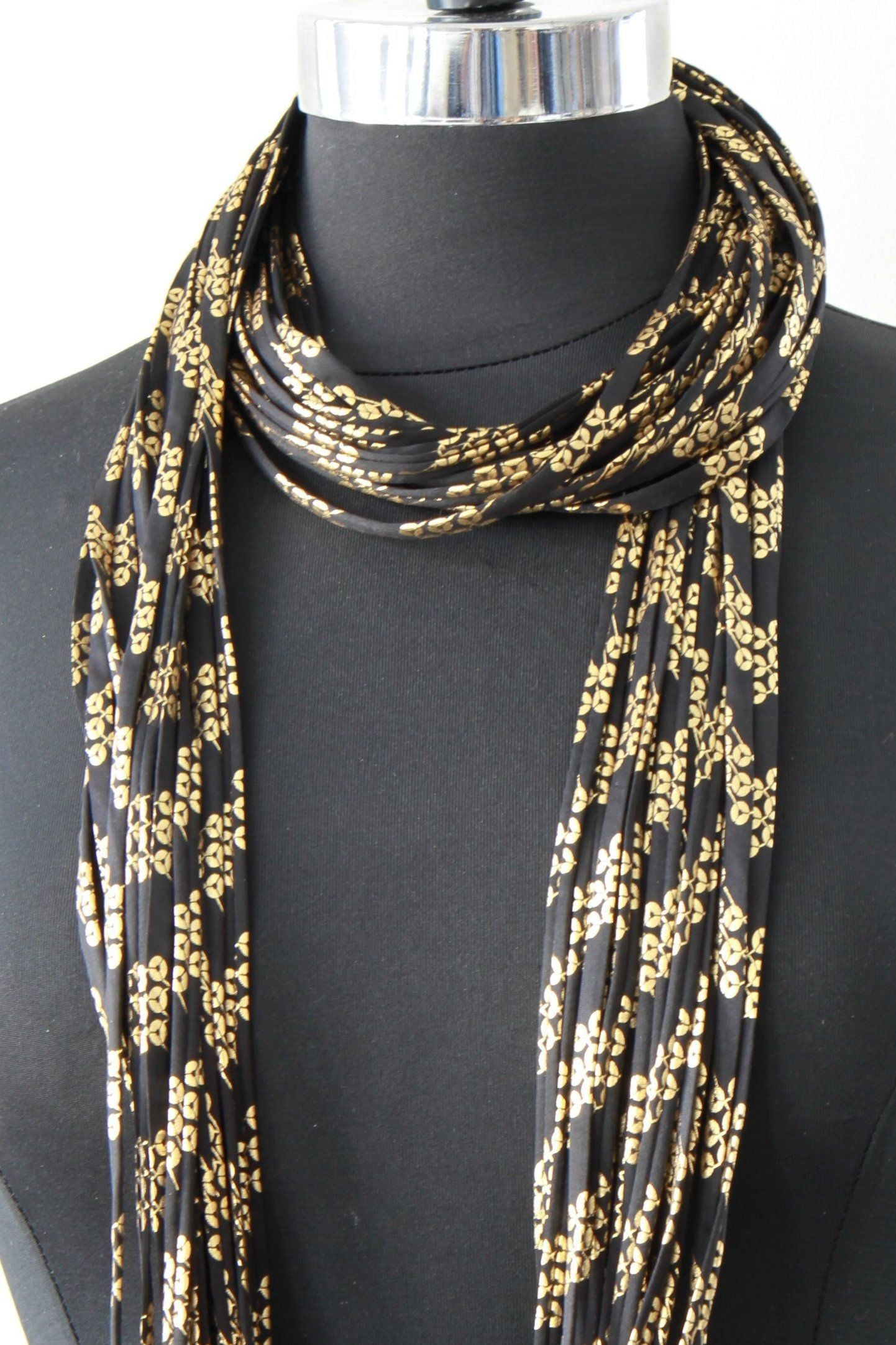 e85c169a5c394 Black and Gold Infinity Scarf 'Glamazon'
