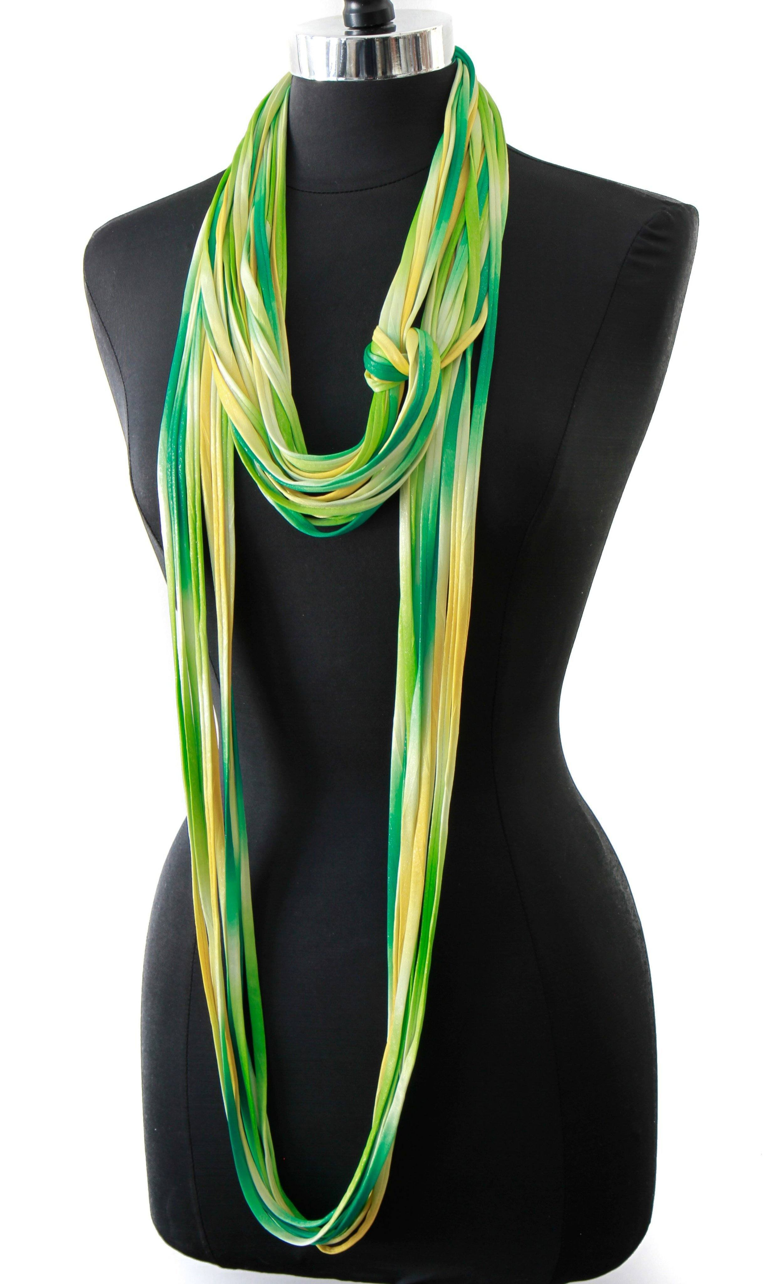 fd2d0f8944630 Infinity Scarf in Yellow and Green 'Canary' - Necknots
