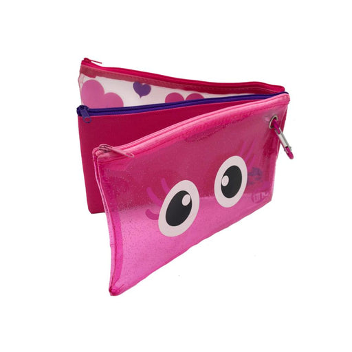 Glitter Set of 3 Pencil Cases - Tinc
