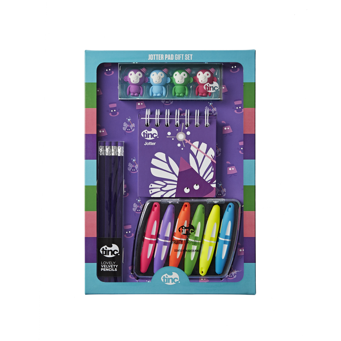 Purple Jotter Pad Gift Set - Tinc